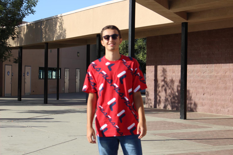 Leonardo Mariotti  poses for the camera at Ridgeview High School.