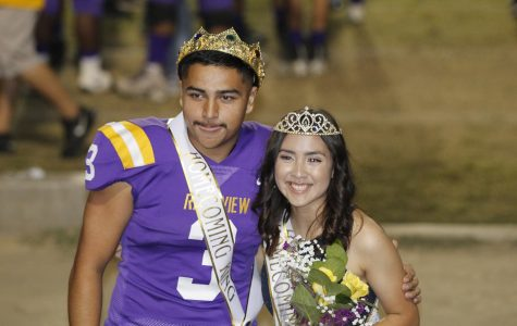 Fabien Guillen and Luz Mendoza were announced as Homecoming Queen and King.