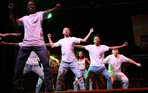 Members of the 11th annual Dance Revue perform in the Ridgeview Auditorium.