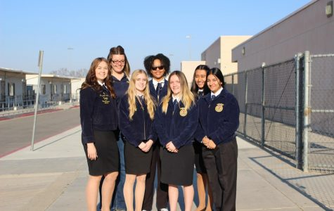 The FFA students smiling, ready to start the year with the new teacher.