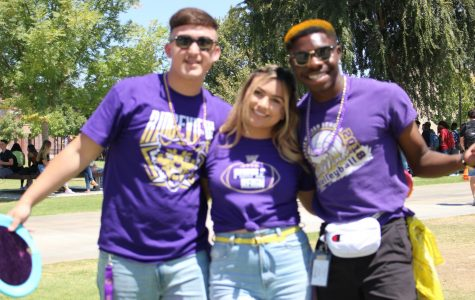 ASB President Theo Walker on campus last year during a pack Friday celebration.