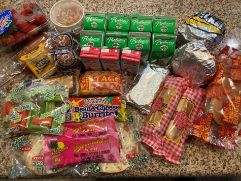 Several food items that are given to students on Friday