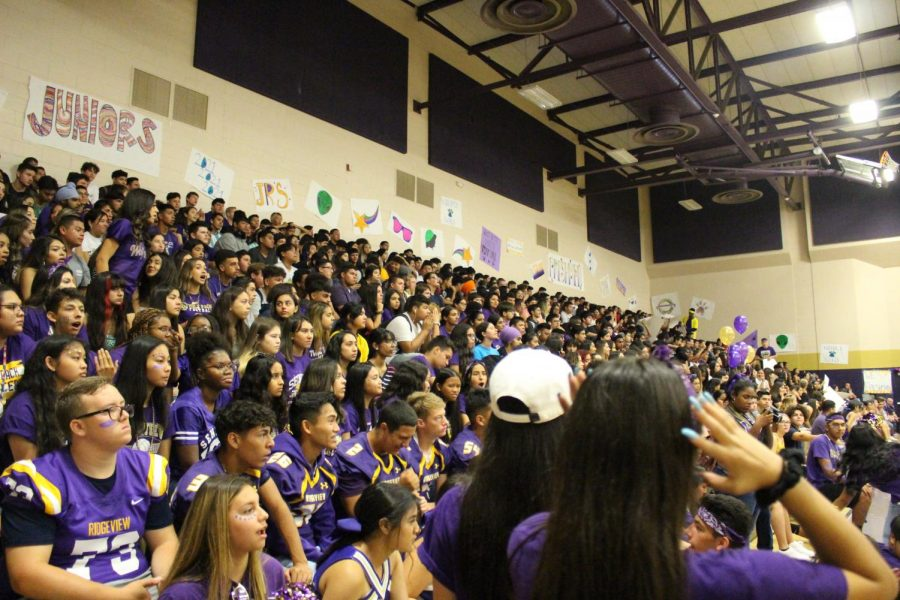 This years Senior class during a rally last school year.