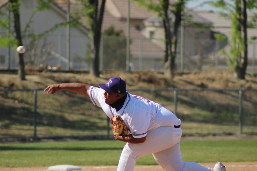 Pitcher Jesus Villalobos throws a pitch at the start of a recent game.