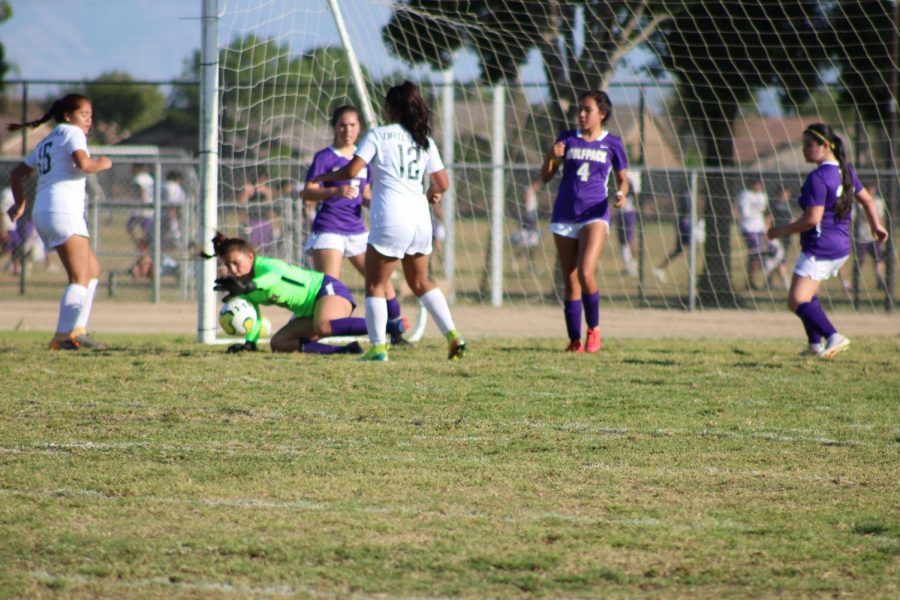 Bianca Jacinto (4) seen helping defend the goal during this season.