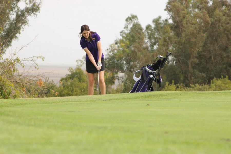 Chloe+Rodgers+putting+her+shot+for+a+hole+in+one+.